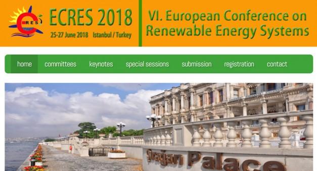VI. Avrupa Yenilenebilir Enerji Sistemleri sempozyumu